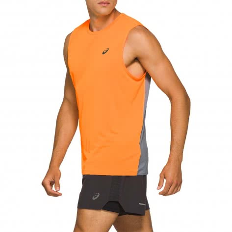 Asics Herren Lauftop Race Singlet 2011A780-800 M Orange Pop/Sheet Rock | M