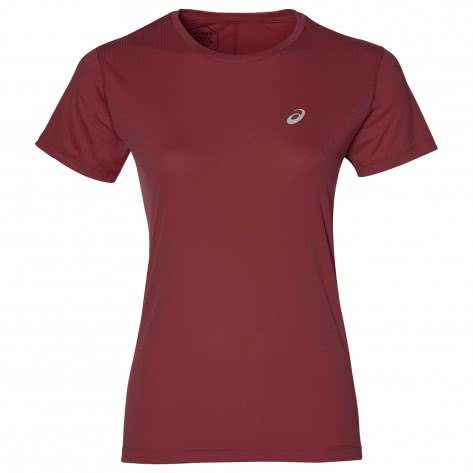 Asics Damen Laufshirt Silver SS Top 2012A029-604 XS CHILI FLAKE | XS