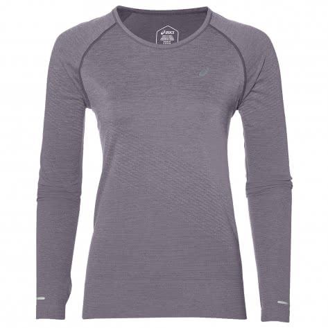 Asics Damen Laufshirt Seamless LS Texture 2012A466-500 S Lavender Grey | S