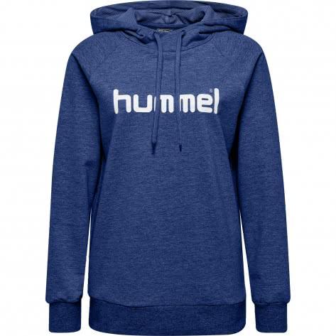 Hummel Damen Kapuzenpullover Go Cotton Logo Hoodie Woman 203517