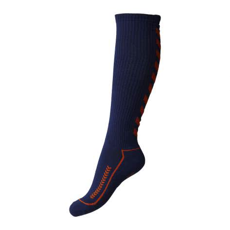 Hummel Advanced Long Indoor Sock 21059 Dark Denim-Shocking Orange Größe: 32-35