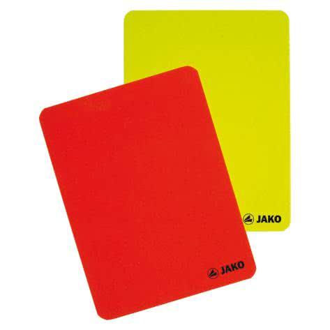 Jako Karten-Set Schiedsrichter 2164-00 Rot/Gelb | One Size