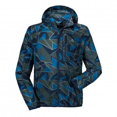 Schöffel Herren Jacke Windbreaker Jacket AOP M 22509-8180 54 Dress Blues | 54