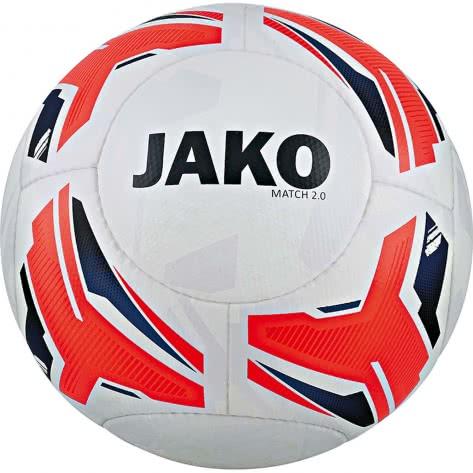 Jako Fussball Spielball Match 2.0 2328-00 5 weiß/flame/navy | 5