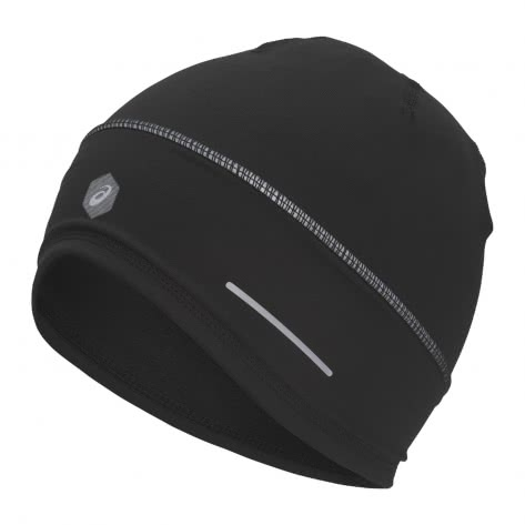 Asics Unisex Laufmütze Lite-Show Beanie 3013A024 Performance Black Größe: One size