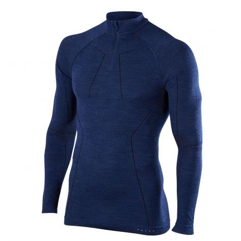 Falke Herren Langarmshirt Wool-Tech Zip Shirt 33410