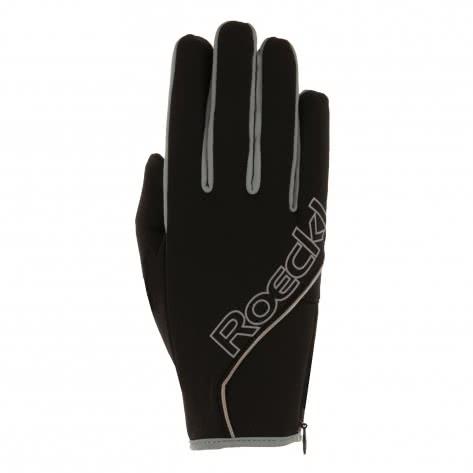 Roeckl Unisex Handschuhe Jussy 3603-003 schwarz/grau Größe: 10.5,11,6,6.5,7,7.5,9,9.5