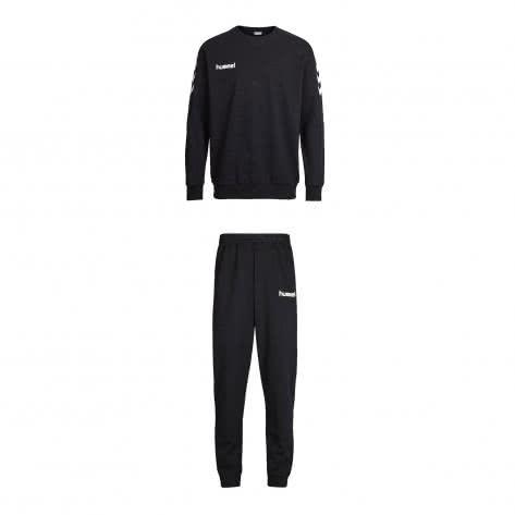 Hummel Kinder Trainingsanzug Core Cotton Suit 36894+32175-2001 116-128 Black | 116-128