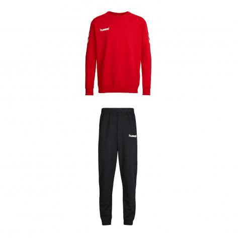 Hummel Kinder Trainingsanzug Core Cotton Suit 36894+32175-3062 116-128 True Red   116-128