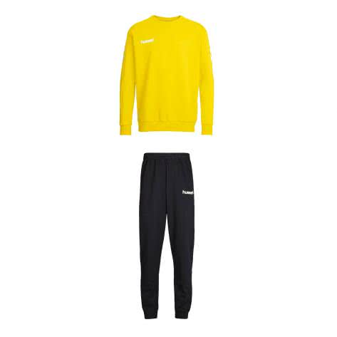 Hummel Kinder Trainingsanzug Core Cotton Suit 36894+32175-5001 116-128 Sports Yellow | 116-128