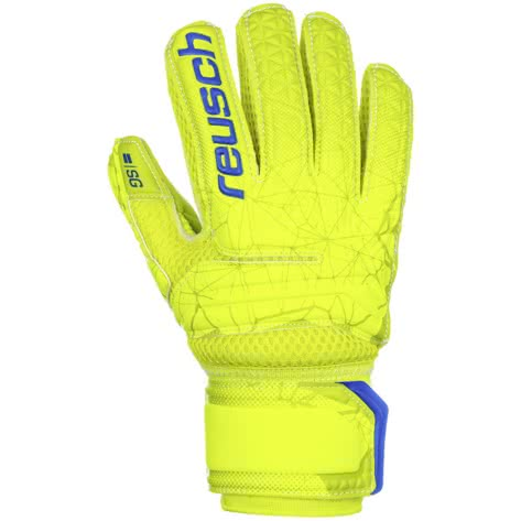 Reusch Kinder Torwarthandschuhe Fit Control SG Extra FS 3972830-583 4 lime/safety yellow/lime | 4