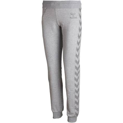 Hummel Damen Trainingshose Classic Bee Tech Pants 39720-2006 L Grey Melange | L