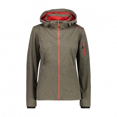 CMP Damen Softshelljacke Woman Jacket Zip Hood 39A5016M
