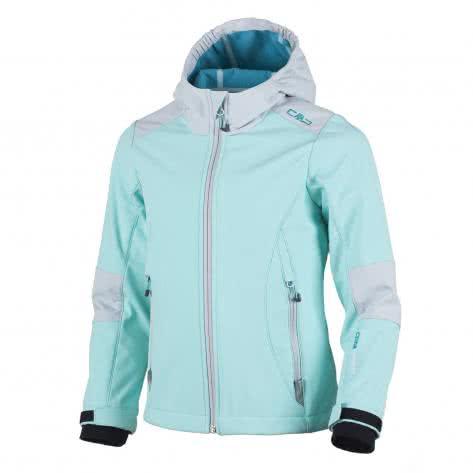CMP Mädchen Softshelljacke Fix Hood Jacket 3A19965 Anice Curacao Größe 110
