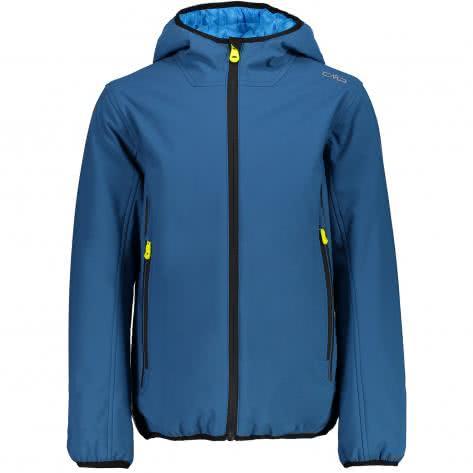 CMP Jungen Softshelljacke Boy Fix Hood Jacket 3Z21574 Denim Größe 116,128,164