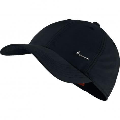 Nike Kinder Kappe H86 Cap Metal Swoosh 405043 Black Metallic Silver Größe One size