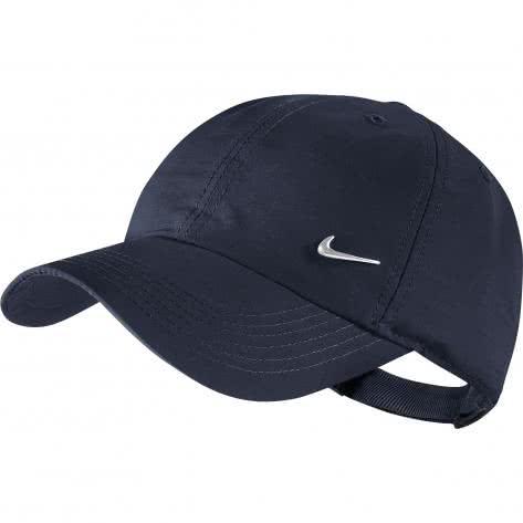 Nike Kinder Kappe H86 Cap Metal Swoosh 405043 Obsidian Metallic Silver Größe One size