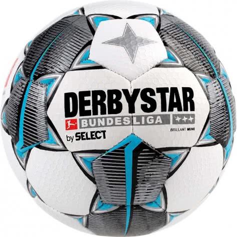 Derbystar Fussball Bundesliga Brillant Mini 2019/20 4301000019 Weiss-schwarz-petrol | 47 cm