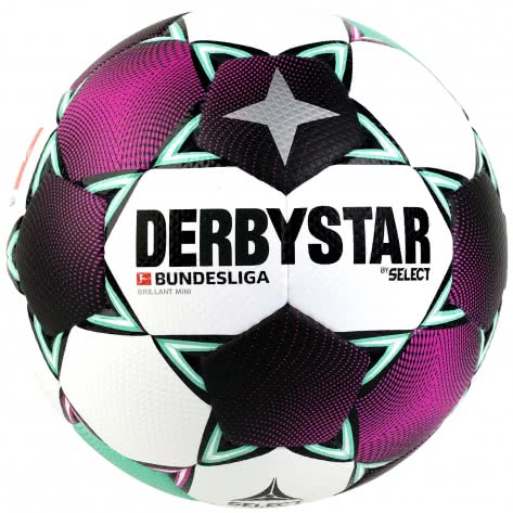 Derbystar Fussball Bundesliga 2020/21 Brillant Mini 4302000020 Weiss/Pink/Grün   47cm