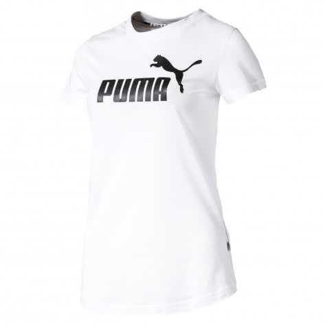 Puma Damen T-Shirt Amplified Tee 580466-02 L Puma White   L