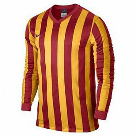 Nike Langarm Trikot Striped Division 588434 588412 University Red University Gold Größe 128 137,137 147,158 170