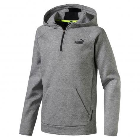 Puma Kinder Kapuzenpullover Sports Style Halfzip Hoodie 590703 Medium Gray Heather Größe 128,140