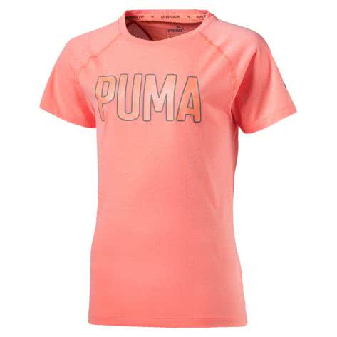 Puma Mädchen Trainingsshirt Graphic Tee 592633 NRGY PEACH HEATHER Größe 164