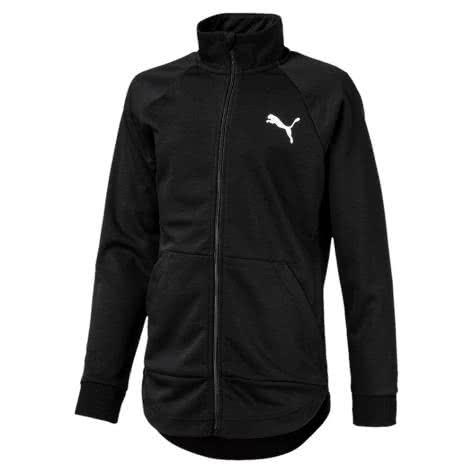 Puma Mädchen Trainingsjacke Softsport Jacket 592660 Puma Black Größe 140