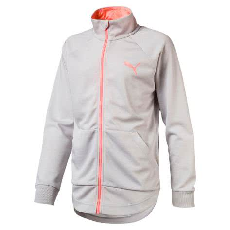 Puma Mädchen Trainingsjacke Softsport Jacket 592660 Light Gray Heather Größe 140,152,164