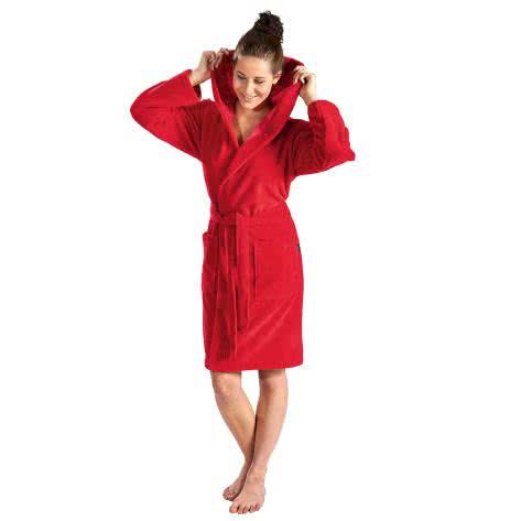 WeWo fashion Damen Bademantel D.Badej.Micro/BW 6110 rot Größe: L,XL