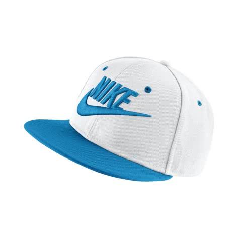 Nike Kinder Kappe True Cap Futura 614590 White Equator Blue Black Equator Blue Größe One size
