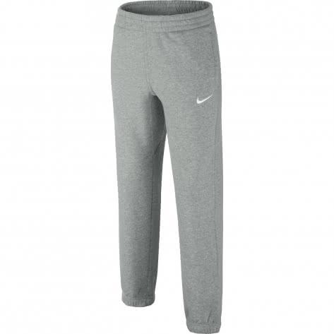 Nike Jungen Trainingshose Brushed Fleece Cuffed 619089 Dk Grey Heather Gym Red White Größe 122 128,128 137,137 147,147 158,158 170
