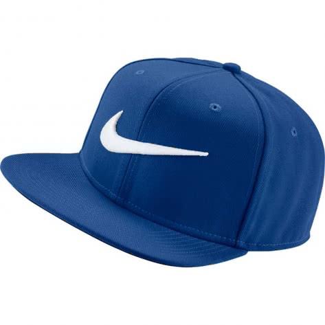 Nike Kappe Swoosh Pro Hat 639534-439 Indigo Force/Pine Green/White | One size