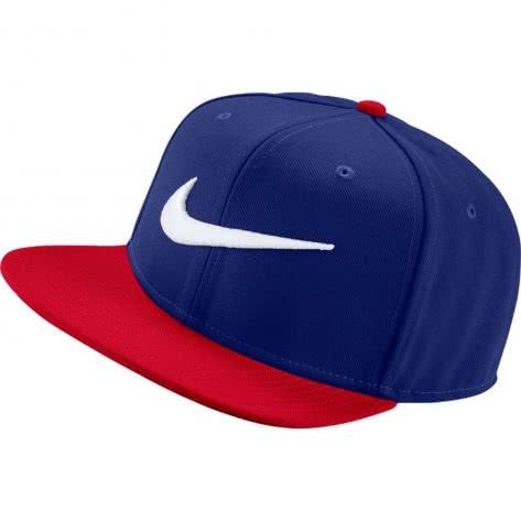 Nike Kappe Swoosh Pro Hat 639534-458 Deep Royal Blue/University Red | One size