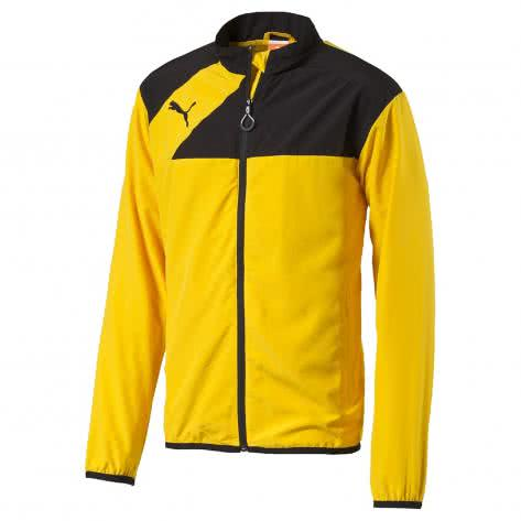 Puma Jungen Trainingsjacke Esquadra Woven 654386 team yellow black Größe 140,176