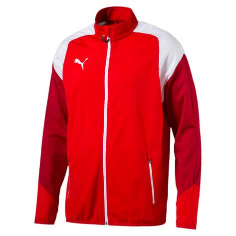Puma Herren Trainingsjacke Esito 4 Poly Tricot Jacket 655223-01 S Puma Red-Puma White-Chili Pepper | S