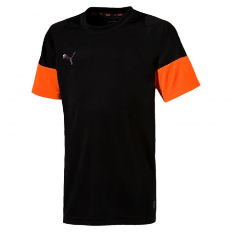 Puma Jungen Trainingsshirt ftblNXT-Shirt Jr 655778 Puma Black Shocking Orange Größe 140,152,164