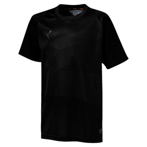 Puma Jungen Shirt ftblNXT Graphic Core Jr 655782 Puma Black Iron Gate Größe 128,140,152,176