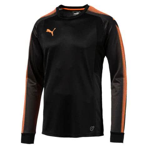 Puma Kinder Torwart Trikot GK LS Shirt 703067 Puma Black Fluo Orange Größe 116,152