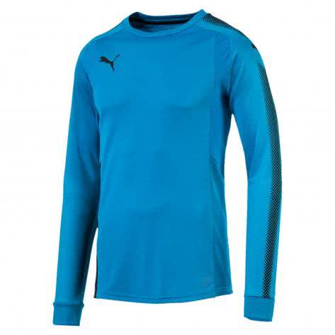 Puma Kinder Torwart Trikot GK LS Shirt 703067 Blue Danube Puma Black Größe 128,140,152,164,176