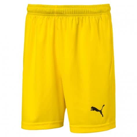 Puma Kinder Short LIGA Shorts Core w Brief 703616 Cyber Yellow Puma Black Größe 116,140,152,164,176