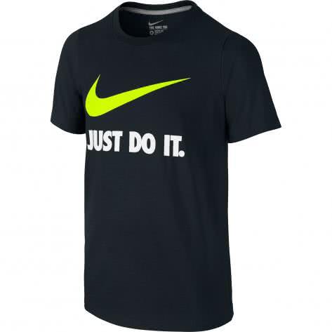 Nike Jungen T-Shirt JDI Swoosh 709952 Black Black Volt Größe 122 128,128 137,137 147