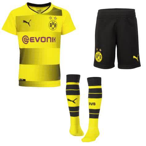 Puma Kinder BVB Borussia Dortmund Home Minikit 2017 18 751692 Cyber Yellow Puma Black Größe 92
