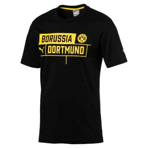 Puma Kinder T-Shirt BVB Borussia Tee 751829 Puma Black Größe 128,140,152,164,176