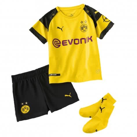 Puma Baby Borussia Dortmund Home Minikit BVB 2018 19 753315 cyber yellow Größe 104,92,98