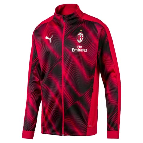 Puma Herren AC Milan Trainingsjacke 2019/20 755895-01 XL Tango Red -Puma Black | XL