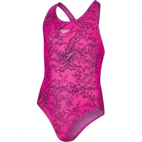 Speedo Mädchen Badeanzug Boom Splashback 8 10843 ELECTRIC PINK BLACK Größe 128,140,152,164