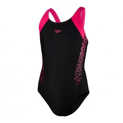 Speedo Mädchen Badeanzug Boom Muscleback 8 10844 BLACK ELECTRIC PINK Größe 128