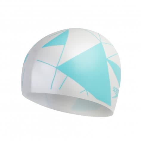 Speedo Badekappe Long Hair Cap Printed 8-11306-4284 White/Blue | One size