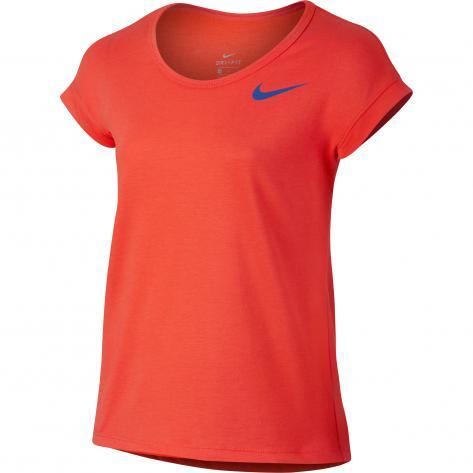Nike Mädchen Trainingsshirt Top SS 830545 Max Orange Comet Blue Größe 128 140,140 152